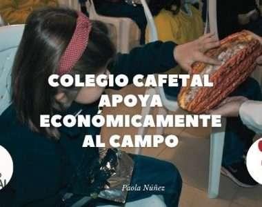 Colegio Cafetal apoya económicamente al campo